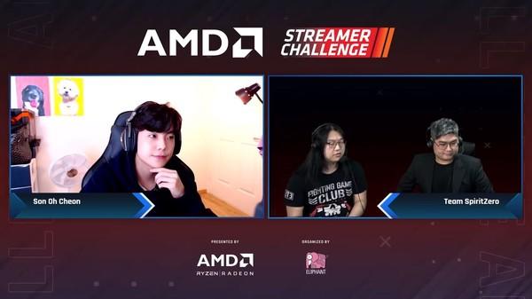 ▲ AMD 스트리머 챌린지에 참여한 손오천 국내 게임 전문 스트리머